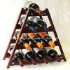 Modern 10 Bottle Wood Wine Rack Wine Display Rack