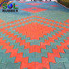 Easy to Install Comfortable Rubber Paver Flooring