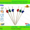 Disposable Food Bead Pick Bamboo Cocktail Pick with Various Beads