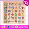 2015 Cute Cartoon Wooden Puzzle Game for Kid, Wooden Children Jigsaw Puzzle Game, Good Sale 3D Wooden Puzzle for Preschool W14c216