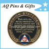 Challenge Metal Coin with Soft Enamel in Gold Plating