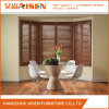 Wood Stained Decorative Bedroom Window Plantation Shutter