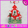 2015 Colorful Wooden Music Box Mechanism, Wooden Music Toy for Promotional Gift, Wholesale Cheap Christmas Tree Music Box W07b012b