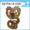 Hot Selling Metal Lapel Pin Badge with Glitter (badge-090)