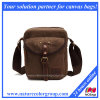 Canvas Messenger Shoulder Satchel Bag with Real Leather (MSB-017)