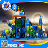 Yl-X146 Children Outdoor PE Board Rocket Castle Metal Slides and Rides Playground