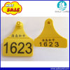 Sheep Printing Number Plastic Livestock Ear Tag with Yellow Color