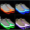 Fashion Running Skateboard Leisure Shoe with LED Light for Women