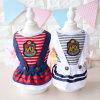 2017 New Summer Pet Skirt Stripes Sailor College Dog Dress