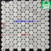 Tumbled White Carrara Marble Random Size Mosaic Tiles for Wall/Flooring