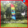 Custom Logo Double Sides Printed Feather Flag