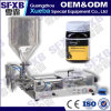Sfgg-120-2 Full Pneumatic Double Head Semi Automatic Bee Honey Jar Bottle Filling Machine