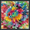Digital Print Custom Fabric Fashion 100% Nature Silk Scarf (F13-0071)