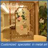 Modern Design Golden Flower Stainless Room Divider Screen for Restaurant