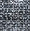 Black Cracked Crystal Glass Mosaic Tile (HGM349)