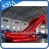 Customize Red Long Slide Inflatable Floating Yacht Slide for Sale