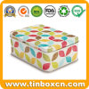 Tea Caddy Gift Packaging Box Rectangle Metal Tin Tea Canister