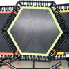Professional Commercial Jumping Fitness Trampoline with Welded Feet and Welded Handle Bar