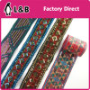 Wholesale Iron on / Sewing on Colorful Sequined Lace Trim for Clothing Decoration