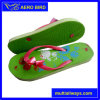 Beautiful PE Flip-Flop Slipper with Flower Decoration