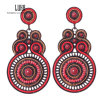 Exaggerate Imitate Pearl Red Resin Earrings Saudi Alloy Jewelry Cloud