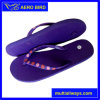 Plain Purple Slipper with Decoration on The Strap