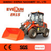 Everun CE Approved 1.5ton Mini Front End Loader with New Wooden Forks