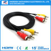 3RCA to 3 RCA Video Audio RCA Cable/AV Cable