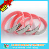Silver Glaze Stainless Steel Silicone Wristband with Thb-057