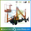 8m to 14m Four Wheels Articulated Cherry Picker Lift for Installing Air Conditioner