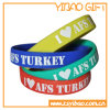 3/4 Inch Logo Printing Silicone Wristband for Advertising Gift (YB-w-014)