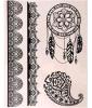 Hair Tattoo Sticker with Dream Catcher Pattern Art Tattoo Sticker