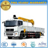 12t Telescopic Straight Boom Lorry Crane Truck Mounted with Crane