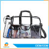 Makeup Bag / Vinyl Toiletry Travel Clear PVC Cosmetic Bag Zipper Closure