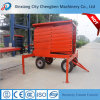 Stable Mobile Trailer Scissor Lift with 4 Tires