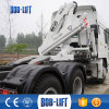 Truck with Foldable Small Mobile Hydraulic Crane