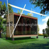 Container House with Beds Tables and Lights