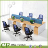 Linear Wooden Office 6 Seats Workstation for Employees