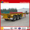 Tri-Axle 40ft Skeleton Type Container Transport Semi Trailer