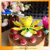 Double Layer Music Lotus Candle