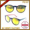 F6187 Vintage Designed Round Plastic Frame Lunettes De Soleil Made in China