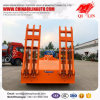 Roller Crane Excavator Transport Low Bed Semi Tow Truck Trailer