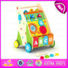 2015 Top Quality Wooden Walker Trolley Toy, Multifunctional Trailer Wooden Baby Walker Toys, Cheap Wooden Baby Walker Toy W16e015