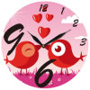 Design moderno Acrylic Wall Clock con Fancy Dial (13A020)