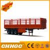 Chhgc 3 Axle Flat-Type Cargo Stake Semi Trailer with Short Lock