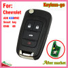 Keyless Flip Remote Smart Key for Chevrolet with 4 Buttons Ask433MHz ID46 Chip Hu100 Blade