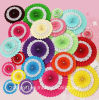 Home Decorative Paper Handmade Craft / Hanging Paper Wheel Fan Rosettes