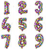 New & Trendy High Quality Digital Number Foil Balloons