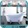 European Style White Acrylic Soaking Bathtub (620)