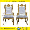 Durable Luxurious Gold King Chair for Bride and Bridegroom